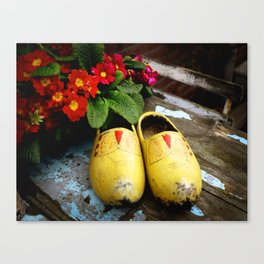 Yellow Dutch Clogs Canvas Print