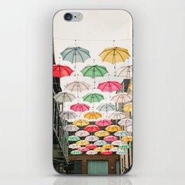 Ireland Dublin | Colorful street photography | Umbrella's iPhone Skin
