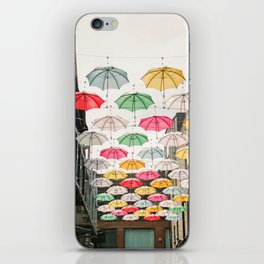 Ireland Dublin | Colorful street photography | Umbrella's iPhone Skin