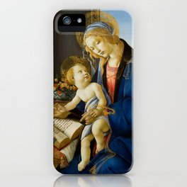 Sandro Botticelli - The Virgin and Child, 1480 iPhone Case