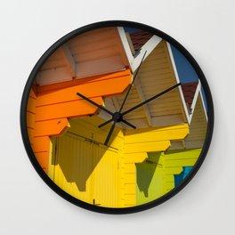 Scarborough Beach Huts 1 Wall Clock