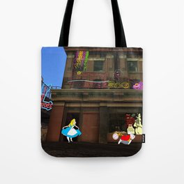 Alice in Crackland Tote Bag