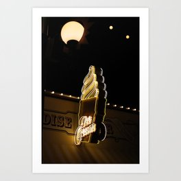 paradise pier ice cream Art Print