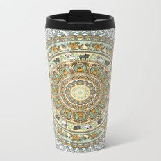 Pug Yoga Medallion Metal Travel Mug