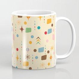 Atomic Pattern Beige Blue  #midcenturymodern Coffee Mug