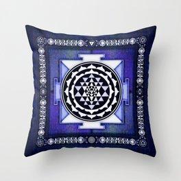 Sri Yantra II.II Throw Pillow