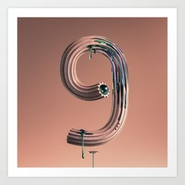 Number 9 Drippimats Art Print
