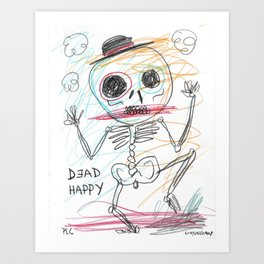 Dead Happy Art Print