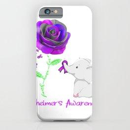 Elephant Faith Hope Love Alzheimer's Awareness T-Shirt iPhone Case