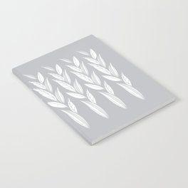 Growing Leaves: Silver Gray  Notebook