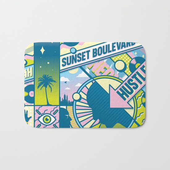 Sunset Boulevard Hustle Bath Mat