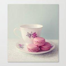 Pretty Macarons Canvas Print