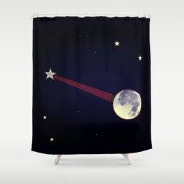 Moon Banjo Shower Curtain