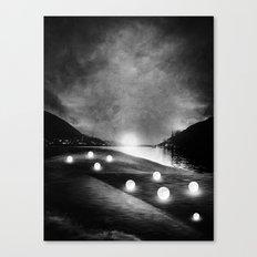 Field of lights (B&W) Canvas Print