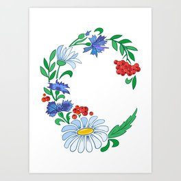 Frame from flowers Art Print