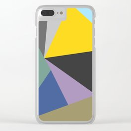 Vibrant Bohemian Geometric Shapes Clear iPhone Case