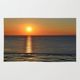 Super Sunset at the Beach Rug