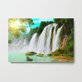 Detian Waterfall Metal Print