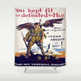 Vintage poster - Stamp Out Venereal Diseases Shower Curtain