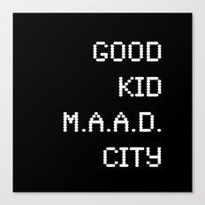 good kid m.AA.d city Canvas Print