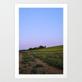 Cambridgeshire countryside Moonrise Art Print