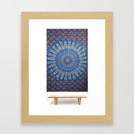 Indian Hippie Mandala Wall Hanging Tapestry Throw Ethnic Bedspread Decor Art Framed Art Print