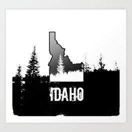 Idaho: Black & White Art Print