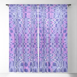 Blue and pink psychedelic pattern Sheer Curtain