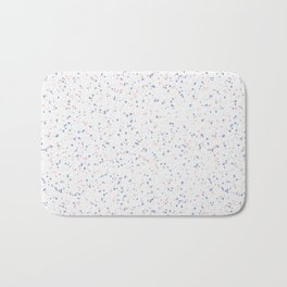Speckles I: Rose Quartz & Serenity on Snow Bath Mat