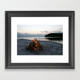 Lonely Fire Framed Art Print