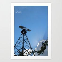 Up: A Windmill Art Print