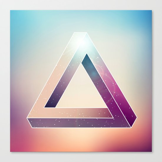 Penrose Triangular Universe Canvas Print