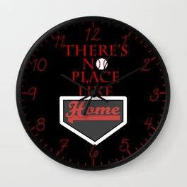 There's no place like home (baseball theme) Wall Clock