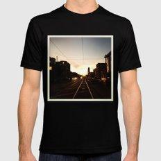 San Francisco Muni Njudah Sunset Silhouette  Black MEDIUM Mens Fitted Tee