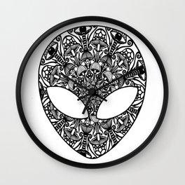 Alien Mushroom Mandala Wall Clock