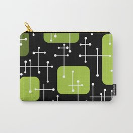 1950s Eames Era Art Crosshairs Black Chartreuse Carry-All Pouch