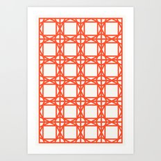 DG GEOMETRIC – TROPICAL RED Art Print