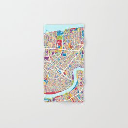 New Orleans Street Map Hand & Bath Towel