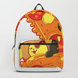 cute cats sleep in pizza Backpack