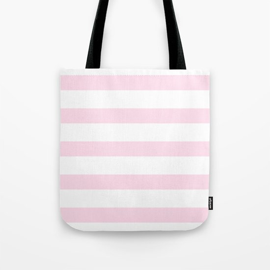 Pink Stripes on white- Beautiful luxury pattern Tote Bag