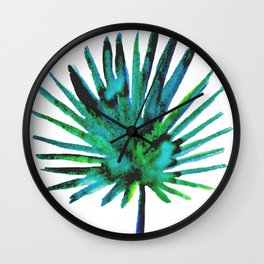 Four Tropical Leaves Wall Clock
