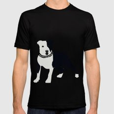 Staffordshire Bull Terrier Mens Fitted Tee Black LARGE