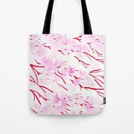 Pink and red blossom Tote Bag