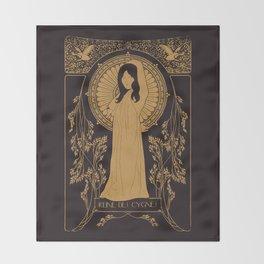 Reine des Cygnes (Gold) Throw Blanket