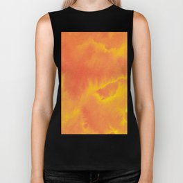 Watercolor texture - yellow and orange Biker Tank
