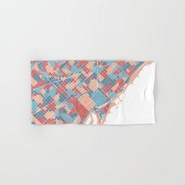 Colorful Barcelona map Hand & Bath Towel