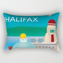 Halifax, Nova Scotia, Canada - Skyline Illustration by Loose Petals Rectangular Pillow