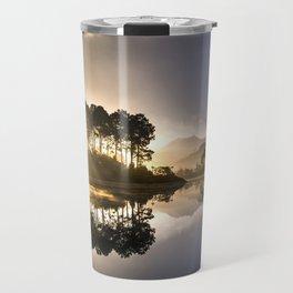 Sunset Reflections on Lake Travel Mug