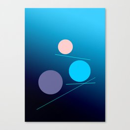 The 3 dots, power game 12 Canvas Print