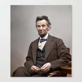 Abraham Lincoln Painting Canvas Print